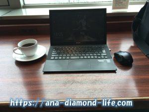スーパーラウンジでコーヒー@新千歳空港