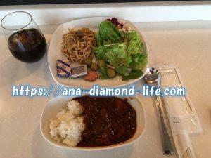 羽田空港国際線ANAラウンジ食事2017年3月